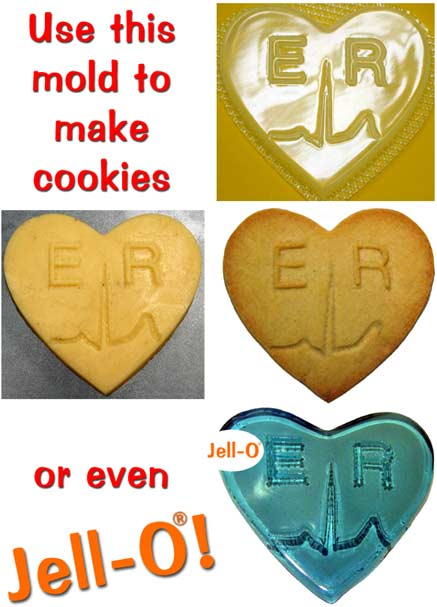 ER Cookie and Jell-O mold
