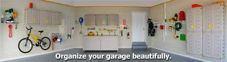 Organize your garage beautifully.